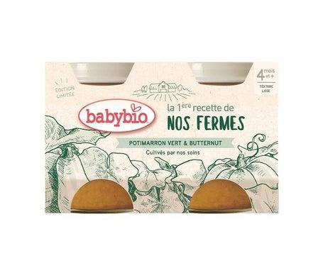 BabyBio Potimarron Vert & Butternut 2 x 130g