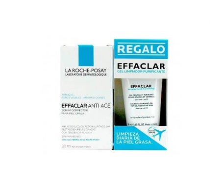 La Roche-Posay Effaclar sérum antiedad 30ml + cleansing gel 50ml