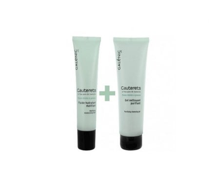 Galénic Cauterets fluido matificante 40ml + gel de limpeza 150ml