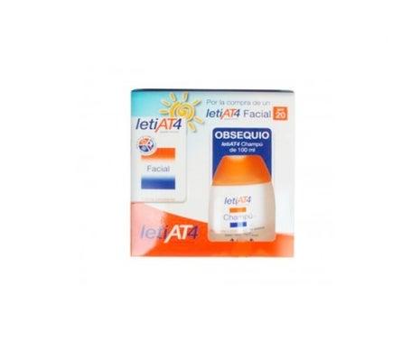 LetiAT4 face cream SPF20+ 50ml + free gift shampoo 100ml